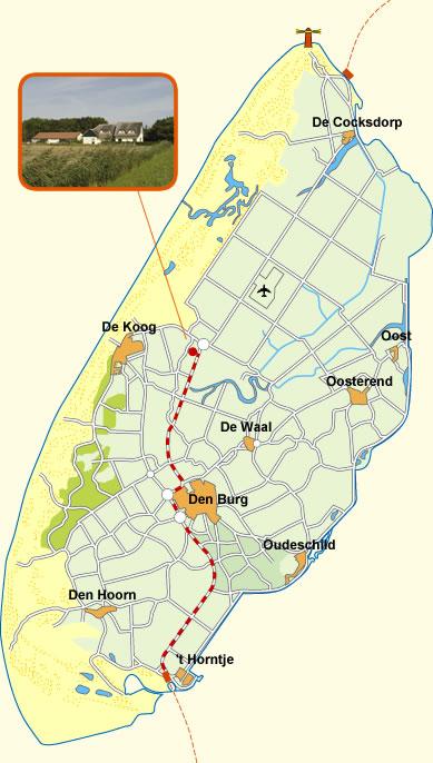 Vakantiewoningen Huize Goethe Texel Ligging